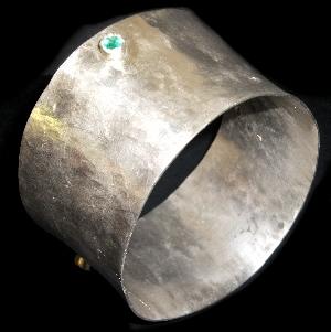 Bracciale - Argento e smeraldi - Mario Inverardi