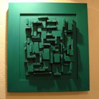 Pannelli - Rilievi verde - Mario Inverardi