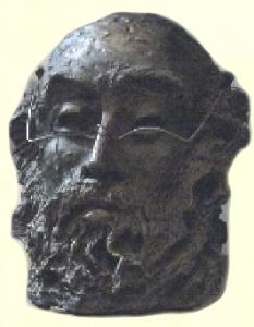 Sculture - Busto con occhiali - Mario Inverardi