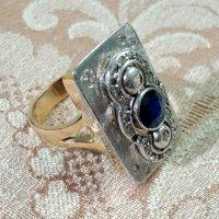 Sculture da indossare - Anello zaffiro e brillanti - Mario Inverardi