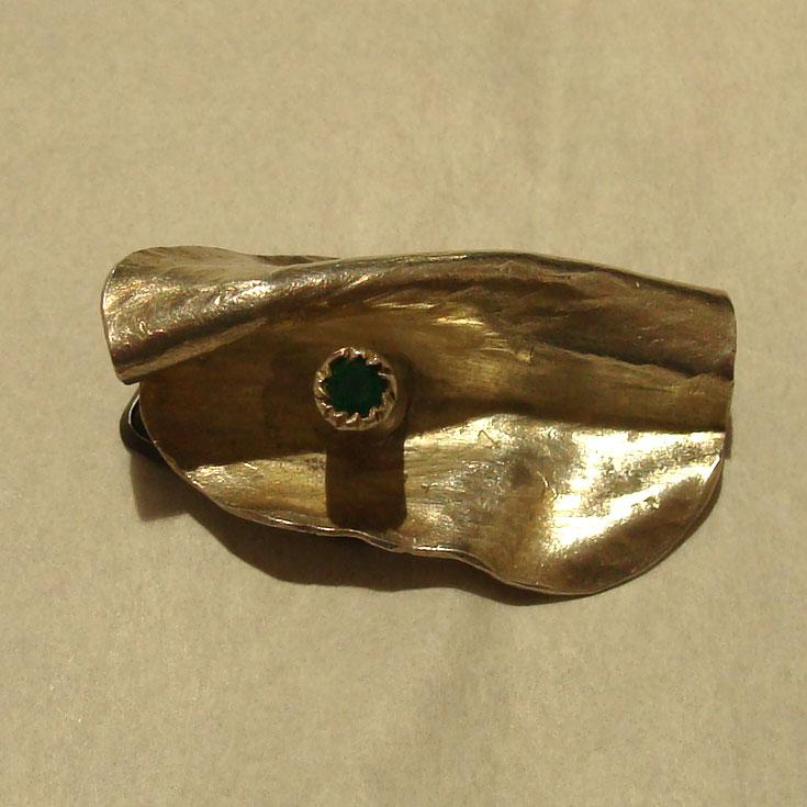 Sculture da indossare - Ciondolo argento e smeraldo - Mario Inverardi