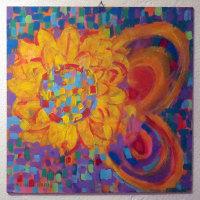 Pannelli - Fiore con farfalla